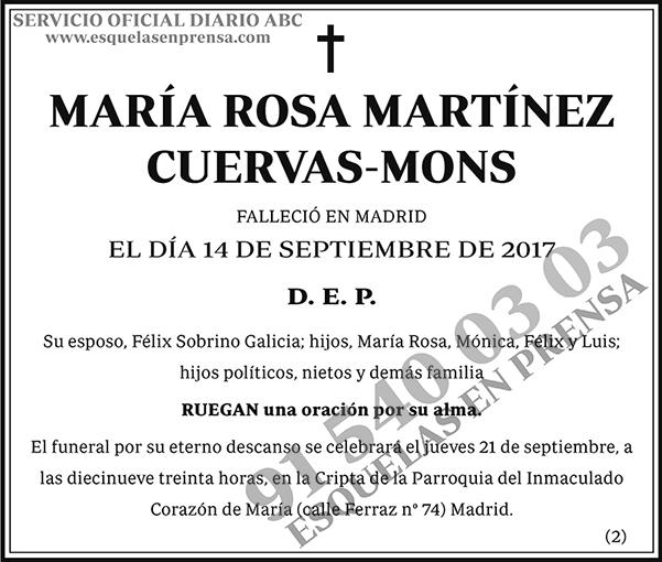 María Rosa Martínez Cuervas-Mons